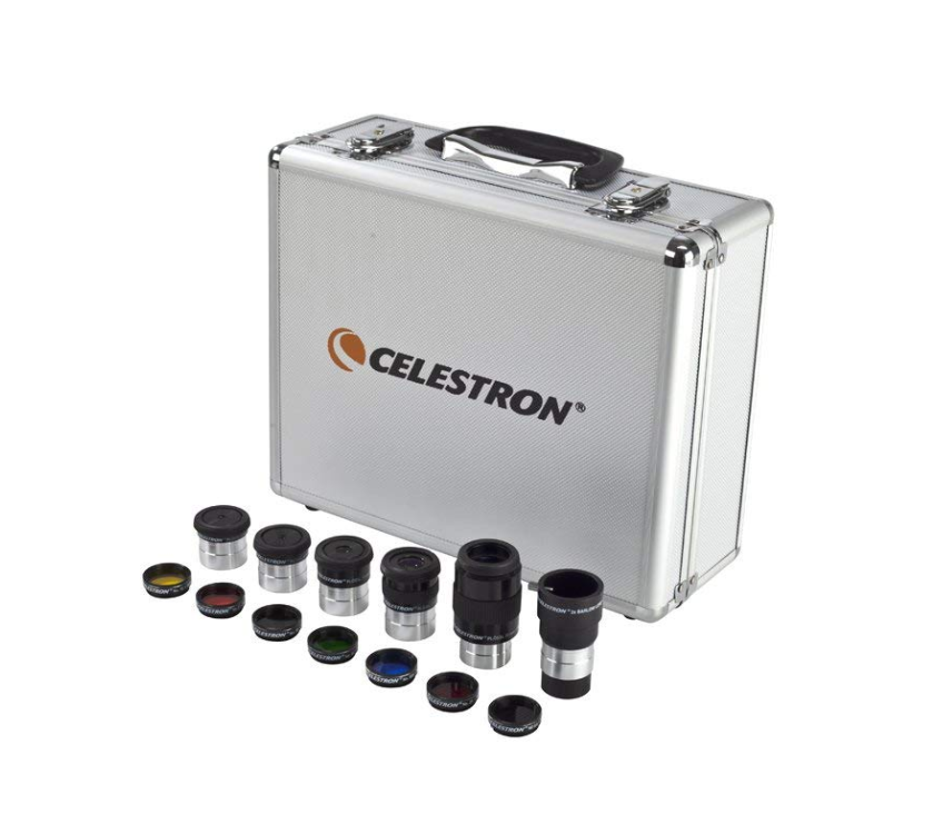 Celestron Eyepiece and Filter Kit – 14 Piece Telescope Accessory Set