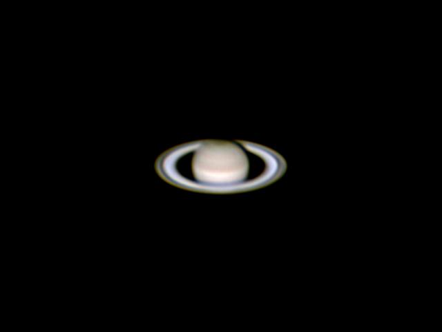 Saturn Through Celestron NexStar 6se Telescope